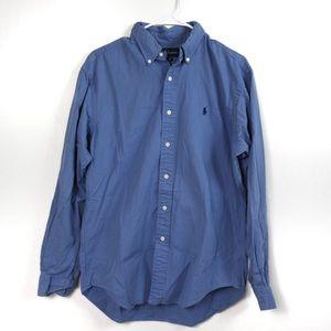 Y45 Ralph Lauren Classic Fit Blue Button Down Med.